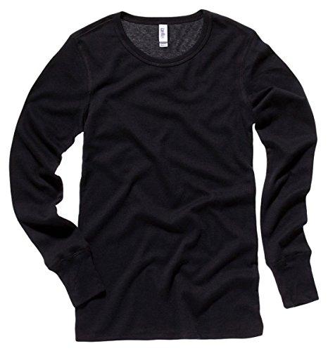 Heritage Long Sleeve Thermal Tops - Bella Ladies Irene Long-Sleeve Thermal 2XL Black