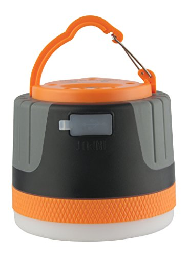 (Yeuloum Rechargeable LED Camping Lantern Light with Magnet Base, 4400 mAh Charger for Mobile, Used as Tent Light Night Light and Flashlight (Large-Orange) )