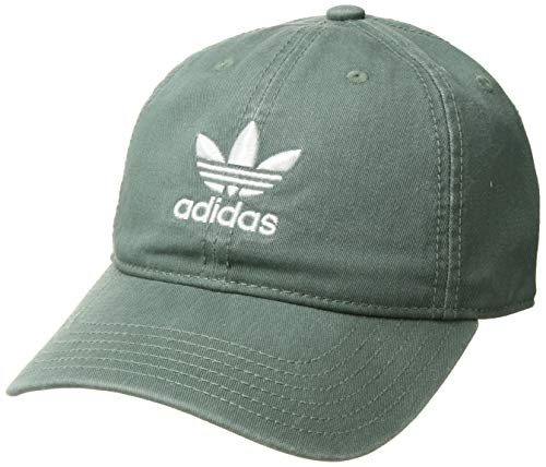 adidas Women's Originals Relaxed Adjustable Strapback Cap, trace green/white, One Size