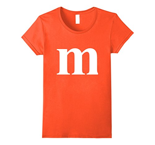 Womens Letter M Tshirt - Quick Group Costume Medium (Orange M&m Costume)