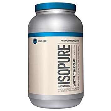 Isopure Naturally Flavored Protein Powder, 100 Whey Protein Isolate, Keto Friendly, Flavor Natural Vanilla, 3 Pounds Packaging May Vary