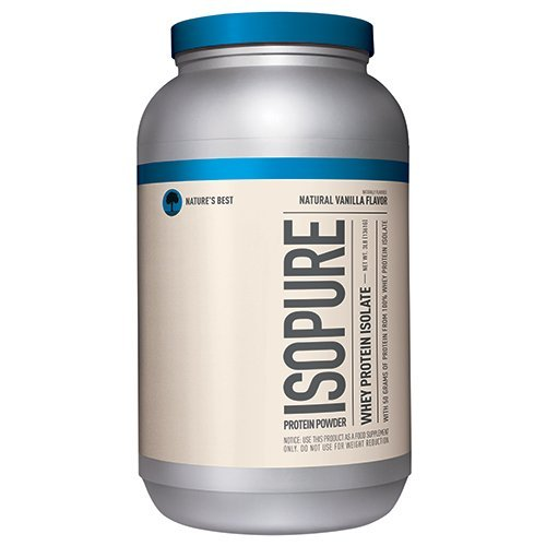 Isopure Naturally Flavored, Keto Friendly Protein Powder, 100% Whey Protein Isolate, Flavor: Natural Vanilla, 3 Pounds