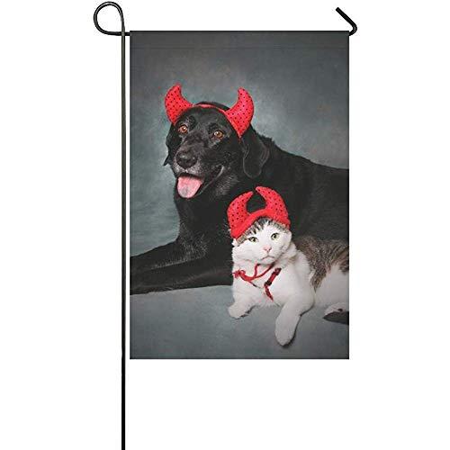 Dicobrune Garden Flag, Home Decorative Outdoor Cat and