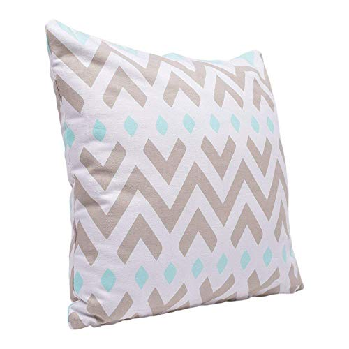 storeindya Decorative Throw Pillow Cushion Covers for Sofa 18 x 18 Set of 2 Cases 100% Cotton Chevron Print Design Home Bedding Accessories