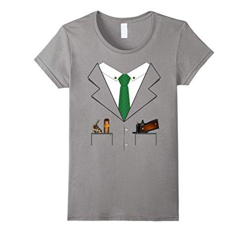 Womens Gangster Hitman Halloween Costume T-shirt