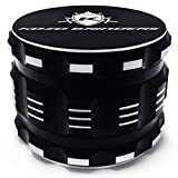 Kozo Best Herb Grinder [Upgraded Version]. Large 4 Piece, 2.5' Black Aluminium