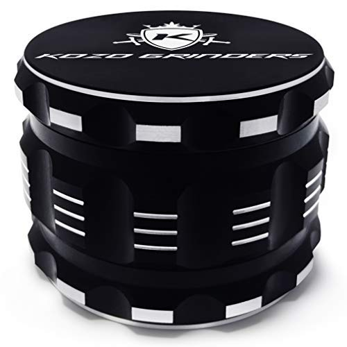 Metal Tobacco Herb Grinder - Kozo Best Herb Grinder [Upgraded Version]. Large 4 Piece, 2.5