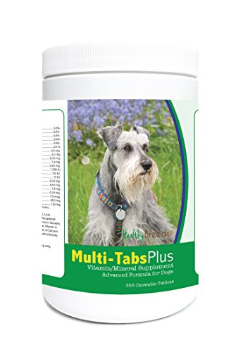 Healthy Breeds Dog 1-A-Day Supplement Chewable Tabs for Miniature Schnauzer - Over 80 Breeds – 180, 365 Chews – Formula for Young or Senior Pets – Easier Than Liquid, Powder from Healthy Breeds