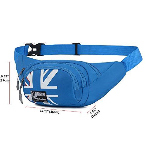 Fanny Pack SINOKAL Waist bag for Men Women Bum Bags Travel Hiking Hip Bum Waist Bag (Grey) by SINOKAL (Image #3)