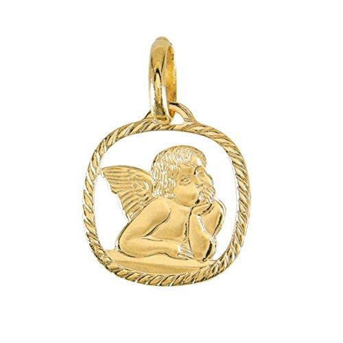 Pendentif - Médaille Ange / Médaille Ajourée - Or Jaune - enfant