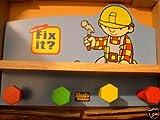 Bob The Builder Wooden Book Shelf Coat Rack
