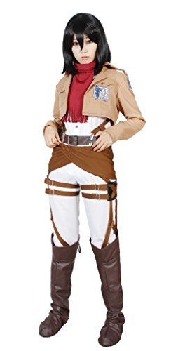 MILICA BOOKS Attack on Titan The Survey Corps Mikasa Ackerman Cosplay Costume-Size L