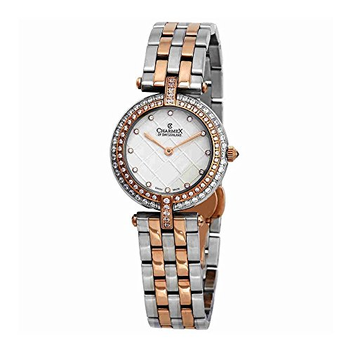 Charmex Crystal White Dial Two-Tone Ladies Watch 6410