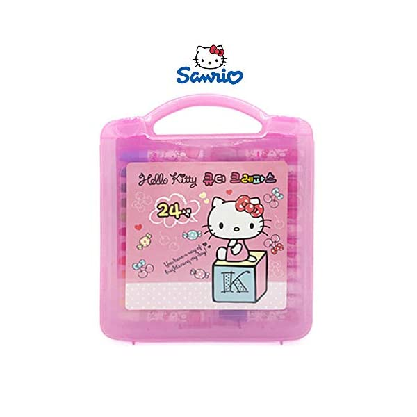 Sanrio-Hello-Kitty-24-Colors-Regular-Crayon-School-Supply-Cutie