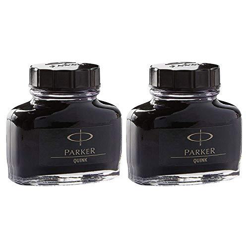 Parker : Super Quink Permanent Ink for Parker Pens, 2-oz. Bottle, Black -:- Sold as 2 Packs of - 1 - / - Total of 2 Each