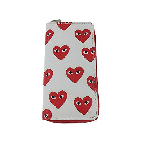 Wallet - Valentine Heart All-In-One Faux Leather Clutch in Fun Unique Prints (Lovely Eyes)