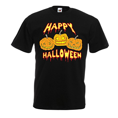 T Shirts for Men Happy Halloween! Party Outfits & Costume - Gift Idea (X-Large Black Multi Color) -