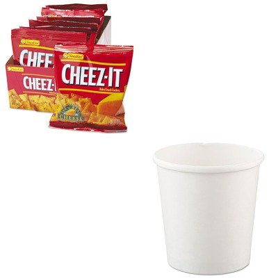 KITKEB12233SLOH4165U - Value Kit - Solo Flexstyle Double Poly Paper Containers (SLOH4165U) and Kellogg's Cheez-It Crackers (KEB12233)