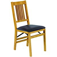 Stakmore True Mission Folding Chair Finish, Set of 2, Oak