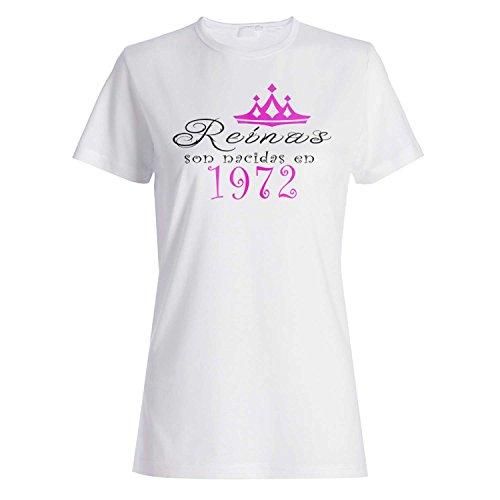 Reinas son nacidas en 1972 camiseta de las mujeres dd84f
