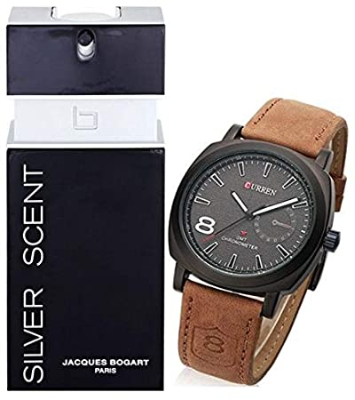b5c9356f0 Bundle of Silver Scent 100ML EDT and Curren Sports Watch: Amazon.ae