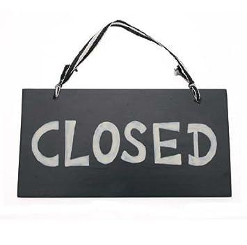 Pequeño de madera abierto/cartel de cerrado: Amazon.es: Hogar