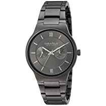 CARAVELLE NEW YORK Mens 45A136 Dress Grey Dial Watch