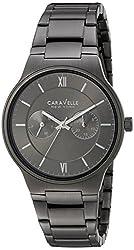 Bulova Men's Quartz Stainless Steel Casual Watch, Color:Grey (Model: 45A136)