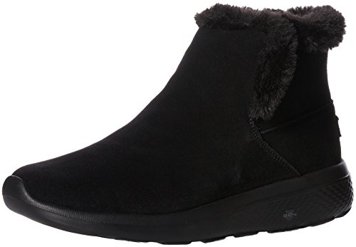Wide Go Go Boots (Skechers Performance Women's On-The-Go City 2-Bundle Wide Winter Boot,Black,7.5 W US)