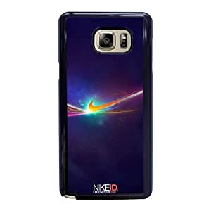 Wunatin Hard Case ,Samsung Galaxy Note 5 Cell Phone Case Black Nike Soccer [with Free Tempered Glass Screen Protector] BA-9892513