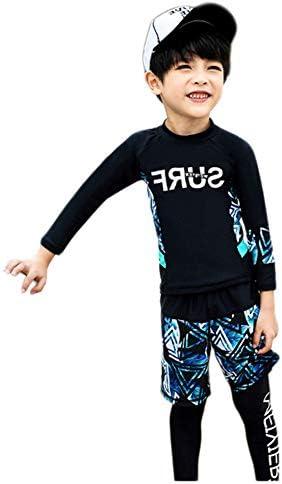 水着 キッズ 男の子 女の子 長袖 レギンス 短パン 三点セット ラッシュガード ウェットスーツ UVカット 日焼け止め 紫外線対策 水遊び