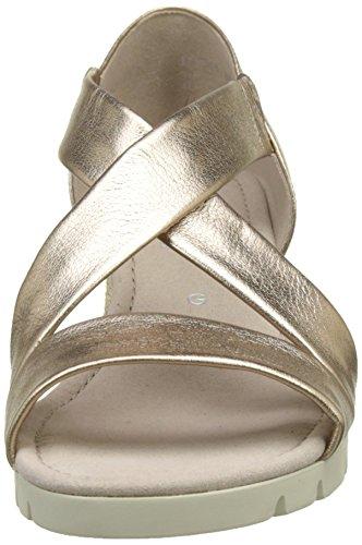 Gabor Shoes Comfort, Sandalias con Cuña para Mujer Beige (space Jute)