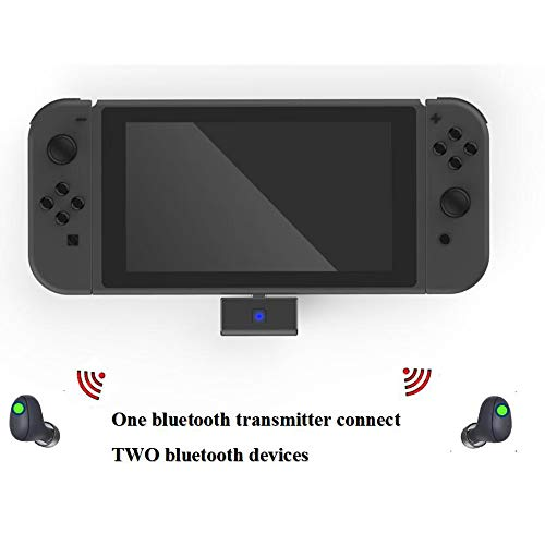 Achoro Bluetooth Audio Adapter Compatible with Nintendo Switch, PS4, and PC - Support Bluetooth Headphone, Speaker. USB - C Wireless Adapter and 3.5mm Jack to Support Voice Chat