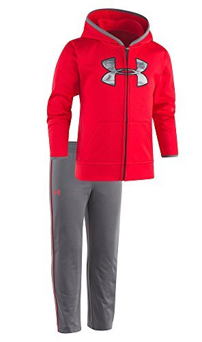 7be23b9f Under Armour Baby Boys' Utility Hoodie Track Set (University Red  (27D92036-60)/Camo Grey/Black, 24 Months)
