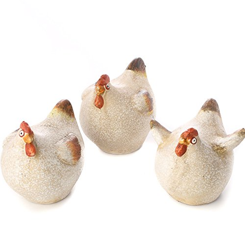 Factory Direct Craft Group of 6 Painted Ceramic Chubby Hens in Assorted Styles for Gifting and Displaying