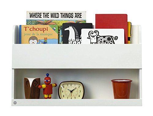 Tidy Books - Floating Shelf for Bunk Bed - Book Shelf - Bedside Table - Wood - White - 13 x 20.9 x 4.7 in | ECO Friendly | Handmade - The Original Bunk Bed Buddy