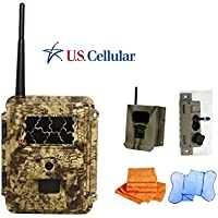 Cost Saving SPARTAN gocam Pre-packaged- U.S. Cellular Blackout Infrared Version (#GC-USCb) Bundle with Security Box, Swivel Mount and Branded Microfiber Towels