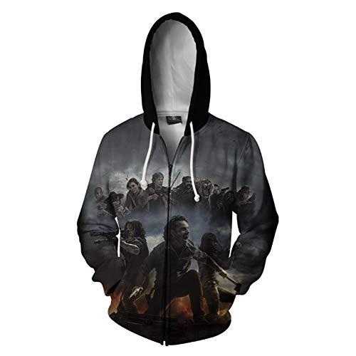 Glenn Halloween Costumes Walking Dead - HPY Walking Dead Hoodie Cosplay Jacket