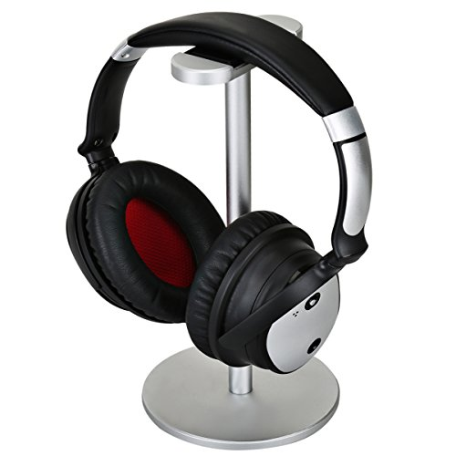 Headphone Holder Gaming Headset Stand Znoble Metal Earphone Holder Hanger with leather Flexible Headrest for All Headphones (201 Microphone Stand)