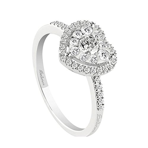 Bague Salvini Daphné Love 20061745 or blanc diamant