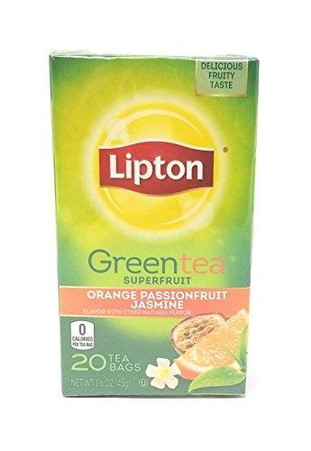 Lipton Green Tea Bags, Orange, Passionfruit & Jasmine, 20 ct, 3 pk