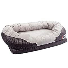 BarksBar Grey Large Orthopedic Dog Bed: A Good night's rest is essential to your dog's happiness and well-being. Designed for everyday use and made with high end orthopedic memory foam used for humans, this luxurious dog bed is built to last ...