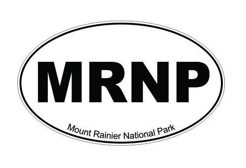 - Slap-Art MRNP Mount Ranier National Park Washington Oval Vinyl Decal Sticker