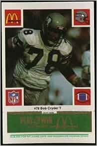 Bob Cryder Seattle Seahawks McDonald's NFL Play & Win 1986