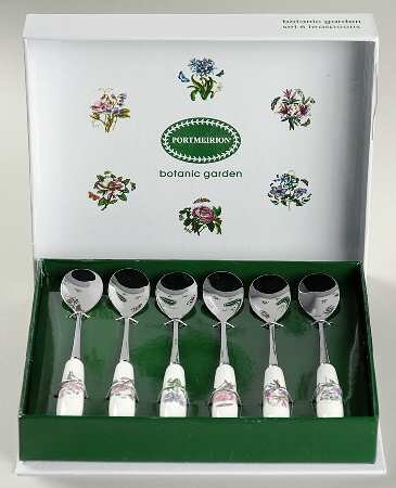 (Portmeirion Botanic Garden Teaspoon (Set of 6 Motifs), Fine China)