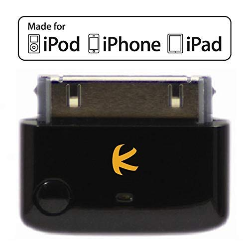 (KOKKIA i10 (Black) : Apple MFi Certified Bluetooth Splitter Transmitter (to 2 Stereo Receivers).Compatible to Apple iPod,iPhone,iPad with 30-pin connector.Compatible streaming to 2 Sets Apple AirPods.)