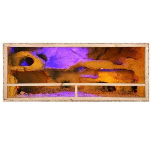 Terrarium: Holzterrarium für Reptilien Seitenbelüftung 150x60x60cm, hochwertiges Terrarium aus OSB Holz, leichte Montage
