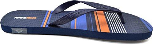 32 Grader Kule Menns Vanntett Strand Flip Flop Navy / Orange X-large