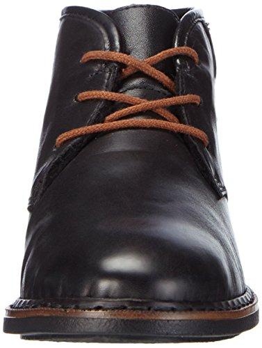Mujer Negro 01 Rieker50620 Cordones Schwarz Planos Schwarz Mogano Zapatos con Schwarz xTRAFIqw
