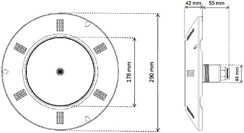 Zavattishop Seamaid 502860 Universelle Led-Projektor f/ür Schwimmbad PAR56 60 wei/ße led 13,5W